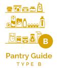 Type B - Pantry Guide