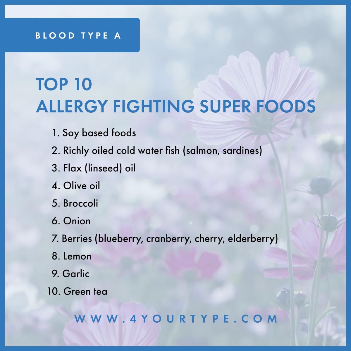 Blood Type A - Seasonal Allergies