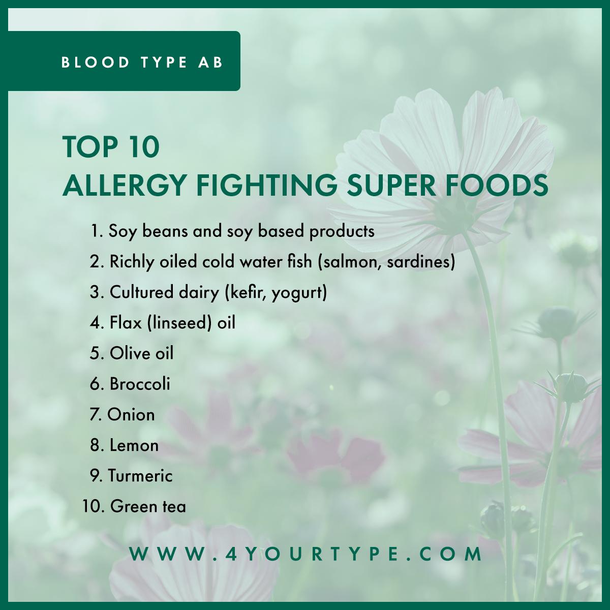 Blood Type AB - Seasonal Allergies