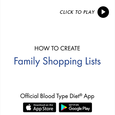 Family Foods - Blood Type Diet