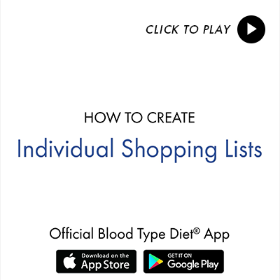 Food Lists - Blood Type Diet