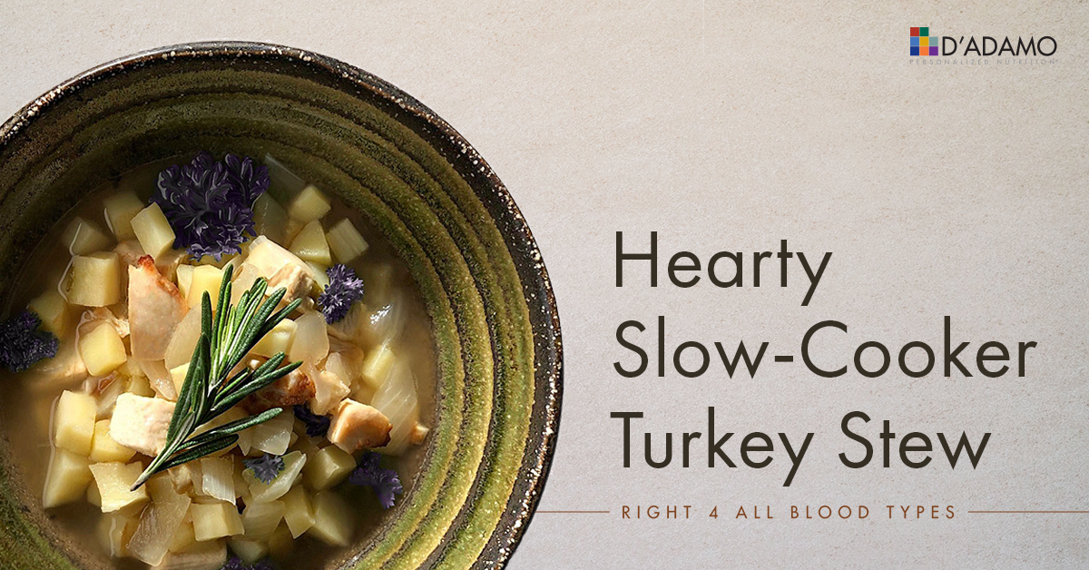 Hearty Slow-Cooker Turkey Stew - Right 4 All Types - D'Adamo
